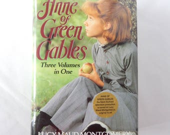 Anne of Green Gables, three volumes in one, 1986 book, hardcover, illustrations from the early 1900s, juvenile literature