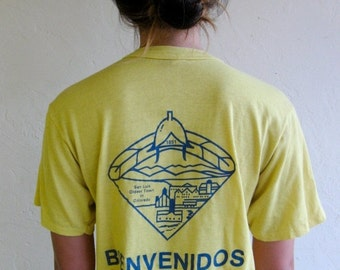 "30% off SPRING SALE The Yellow ""Bienvenidos"" TShirt"