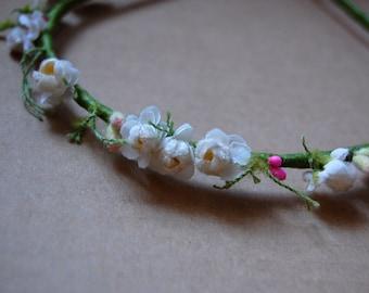 Romantic fairy millinery flower headband