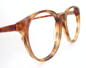 Vintage Round 80s Tortoise Eyeglasses Sunglasses Frame Titmus Z87