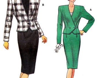 Very Easy Very Vogue Suit - Vogue 9658 - Vintage Sewing Pattern, Size 12, 14, and 16