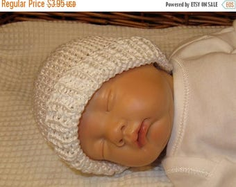 50% OFF SALE Knitting pattern digital pdf download - Preemie Baby and Tiny Baby Beanie Hat pdf download knitting pattern
