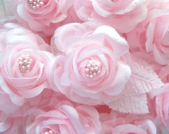 Pale Pink Satin Rose Pick