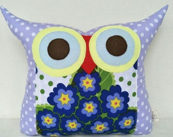light purple/blue owl pillow /Home decor / decoration pillow/ children/for her /Ready to ship