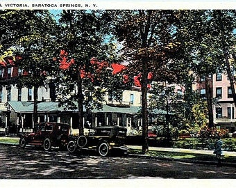 Antique New York Postcard - The Victoria Hotel on South Broadway, Saratoga Springs (Unused)