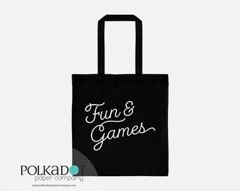 Fun & Games Tote Bag