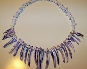 Vintage Purple Shell necklace