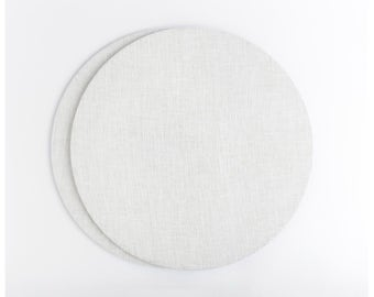 Charter plates white linen. Set of 2. Perfect for dinners, breakfasts, or afternoon tea parties. Free shipping for US ordes.