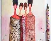 African American Illustrated Notebook - 'Wise Women'