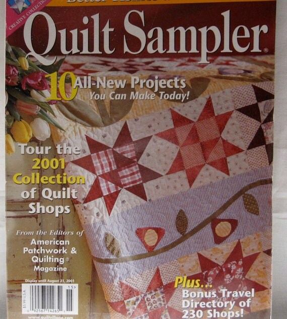 Sale Destash Better Homes And Garden Quilt Sampler August 2001 Quilting Patterns Quilting