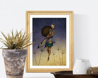 Spring cleaning sale Midsummer Faerie dance - Signed print