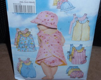 Butterick 5625 Infants' Easy Romper, Jumper, Panties and Hat   Size NB-S-M   Uncut New