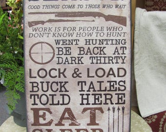 Man Cave Decor,Hunting Decor,Hunting Season,Man Cave,Born To Hunt,Wooden Art Sign,9x18