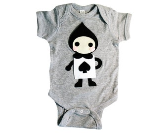 The Trumps - Spade - Alice's Adventure in Wonderland - Infant Bodysuit - Baby Clothing - Gift