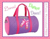 28 Fonts- Personalized Pink BALLET Girl's Quilted Dance DUFFLE BAG by Stephen Joseph Monogrammed Free!
