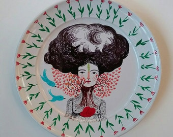 A lover for nature's scent  medium plate 9x 9