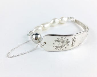 Massachusetts Bracelet, Massachusetts Gift, Wife Gift, Massachusetts Jewelry, Spoon Bracelet, Spoon Jewelry, Vintage Massachusetts