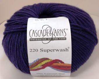 Cascade, Superwash, Wool, Worsted, Eggplant Purple, 803