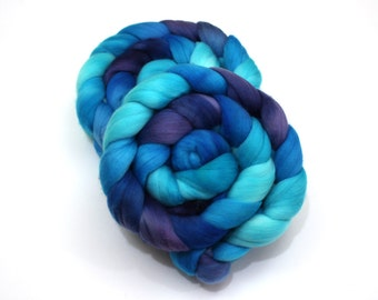 Polwarth/ Silk Roving (85/15) (Combed Top) - Hand painted Felting or Spinning Fiber