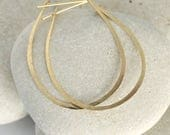 Hammered Gold Teardrop Hoop Earrings from the Ophelia Handmade Collection