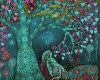 Aqua Valentine Tree