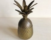 Vintage Brass Pineapple Container Candleholder