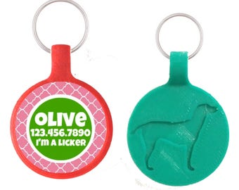 Garden Trellis Personalized Dog ID Pet Tag Custom Pet Tag You Choose Tag Size & Colors