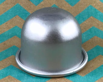 "SM GUMDROP Bath Bomb Mold, Metal, 2"" across, 1.75"" deep, #1 Small"