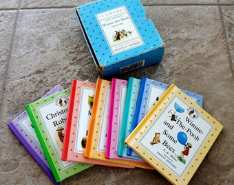 Vintage Winnie The Pooh Book Set A A Milne Hardcover Books Set of Eight