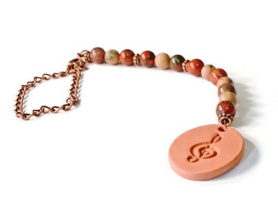 Musical Terracotta Essential Oil Diffuser Car Charm, Aromatherapy Accessories