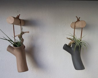 Twig hanging planter or vase