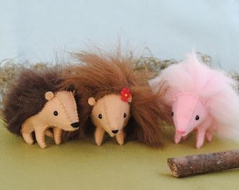 Stuffed Hedgehog Toy Sewing Pattern Printable PDF * DIY Hedgehog Plush * Make Your Own Stuffed Animals