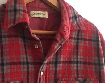 Wool Plaid Shirt // Vintage // sm/m