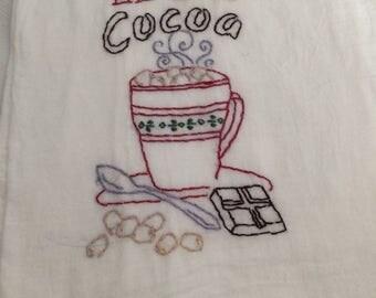 Hot Cocoa Tea Towel
