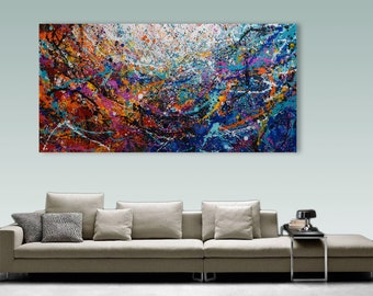 XXL Palette Knife Painting, Modern Painting, Art, LARGE Painting, Wall decor, Wall Art, Canvas Art, Acrylic painting, Art by Catalin
