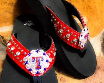 Texas Rangers Inspired Flip Flops Sandal