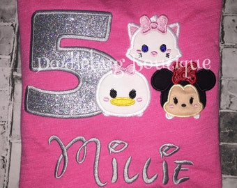 Tsum Tsum birthday shirt ANY characters!