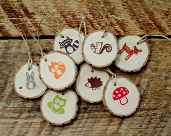 Woodland Animal Gift Tags