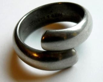 Reed and Barton Jeweler's Pewter Ring 7/8 inch inside diameter
