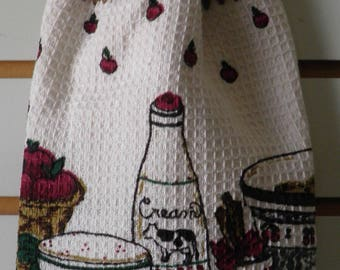 Crocheted Country Kitchen Towel