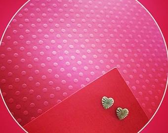 My One True Love- Starburst Heart Stud Earring Set! Mid Century Modern Style