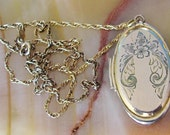 Antique 1938 Gold Filled Locket and Chain, with Original Photos