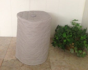 Gray Grey Kitchen Utensil Small Appliance Cover Round