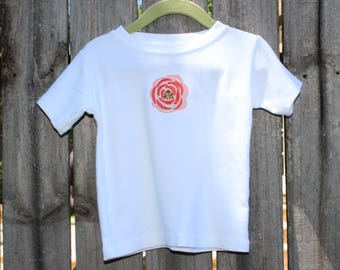 The Poppy Shirt | Baby Girl Floral Infant Shirt | Boho Baby | Floral Top | Indie Baby