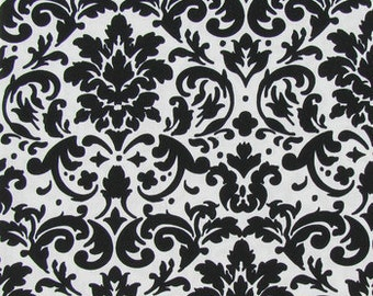 Waterproof Apron - Toddler and Primary - Black & White Damask