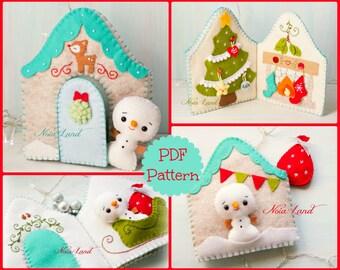 Christmas book. Snowmen home activity book