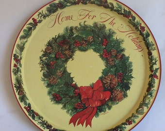 Vintage Home for The Holidays Tray