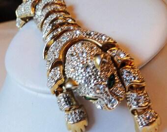High End Segmented Crystal Tiger Bracelet