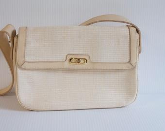 Vintage Etienne Aigner Cream Ivory Purse Handbag