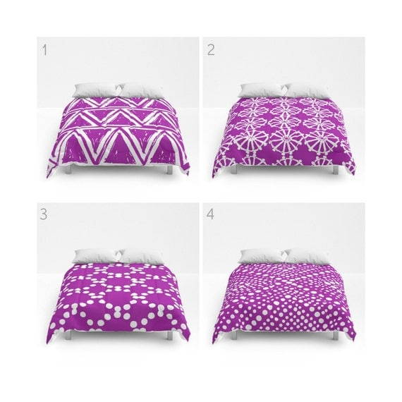 Purple and White Comforter - Queen Comforter - King Comforter - Full Comforter - Twin Comforter Purple Twin XL  Bedding Bedspread Bed cover
